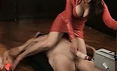 Mistress playing with guy
