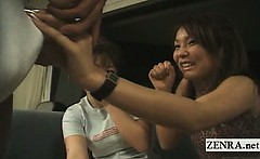 Subtitled CFNM Japanese amateur penis show in Hawaii
