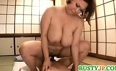 busty reiko yumeno enjoys it hardcore and messy