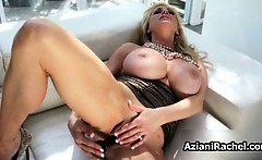 Busty babe goes crazy masturbating