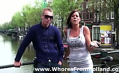 Amsterdam hooker takes money for sex with lucky guy