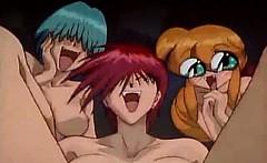 3 girls sucking the same cock anime hentai movie