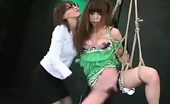 Asian Group Rough Masturbation