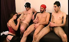 Groupsex teaching with Lola to a milf