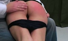 girl getting some OTK spanking
