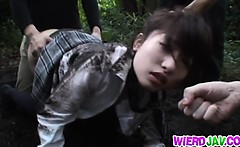 Cute Japanese school girl got hard fuck with voyeur hard