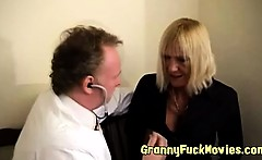 Old doc fucks hot granny patient