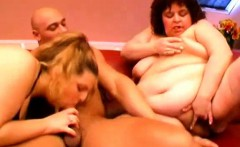 Awesome amateur BBW threesome party