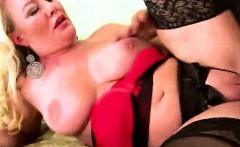 Blonde 45yo milf in hot lingerie anal