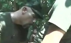 Soldiers Sucking Cock Outside