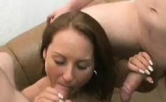 German Kitten licks cum from tools