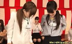 Young asian office sluts enjoying sex games