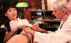 girls out west hot lesbian gynecologist gets fisted