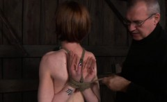 BDSM bonded being tied up by maledom