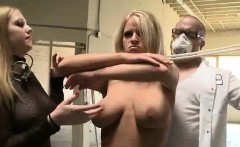 Blonde Slut Tied Up And Slapped Around At BDSM Gangbang