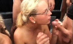 wild German bukkake gangbang orgy