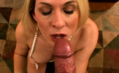 Classy blonde housewife enjoys to suck
