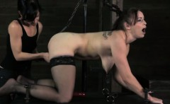 Cruel mistress plays harsh games with her female slave