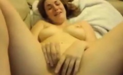 Sexy girl nearly cries from pleasure