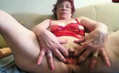 Living room solo granny housewife Mirella