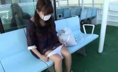 Asian public cunt flash