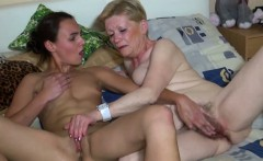 OldNanny Nice young woman and old granny masturbated