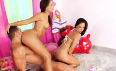Milk enema squirters in threesome using whipped cream