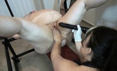 Nasty fat slut gets horny getting tied