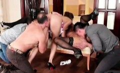 Group orgy sexy busty milf sucking big cocks