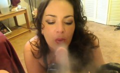Smoking Mother Gives A Hand Job POV