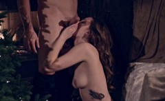 Skank Samantha Hayes pounded and jizzed on her boobies
