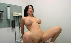 Hot MILF fucked hard in doctors cabinet