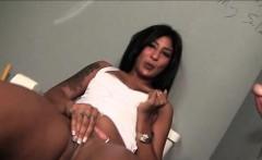 Gloryhole Mulatta Eats Big Shaft On Knees