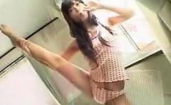 Petite Japanese Teen Teases Her Panties