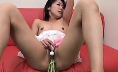 Cute Asian Girl In A Maid Outfit Masturbates