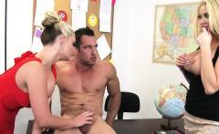 Busty blonde sex teachers Phoenix Marie and Summer Brielle