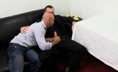 Kirk Cummings gets his cock sucked by a mature stud