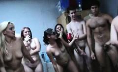 Hardcore college dorm room orgy