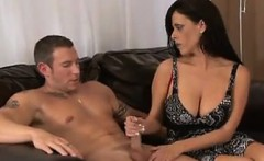 MILF With Big Tits Stroking Some Penis