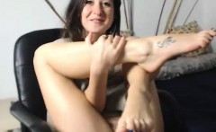 Cute girl gives a good strip show on cam