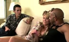 Blondie makes bf watch her sucking a big black cock