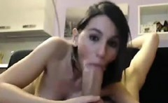 beautiful brunette skinny gf fucking huge cock on web cam