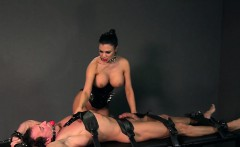 Busty mistress fucks strapped guy fetish femdom
