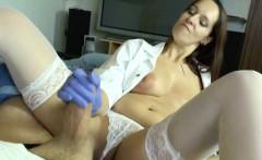 German MILF Nurse helps patient with perfect Handjob