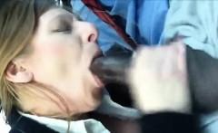 Horny amateur mature sucks her lover's cock
