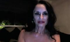 nasty granny masturbating at home with toys