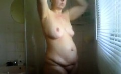 Mature Wife Washing Her Body In The Shower
