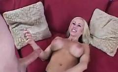Blonde Whore Gives Him A Great Handjob