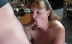 dirty granny giving a blowjob point of view
