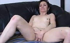 Granny With Small Tits Teasing Her Pussy